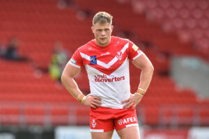 Morgan Knowles limps off on England duty