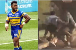Police investigate 'racially provoked' street brawl involving James Segeyaro after man 'threatened to pull a knife'